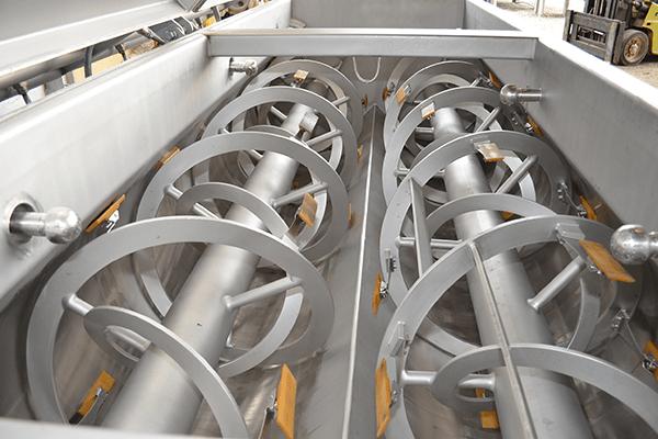Double shaft blender manufact