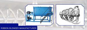Ribbon blender Manufacturer and Supplier