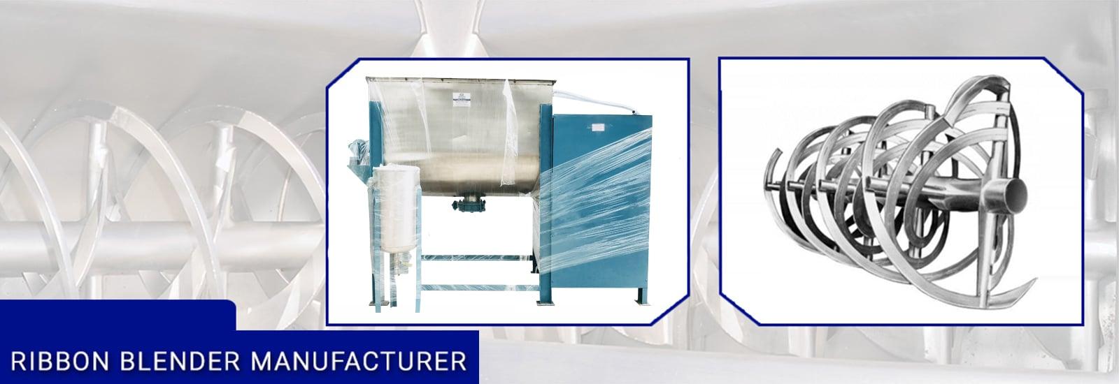 Ribbon Blender Manufacturer, Supplier and Exporter in Ahmedabad, Gujarat, India